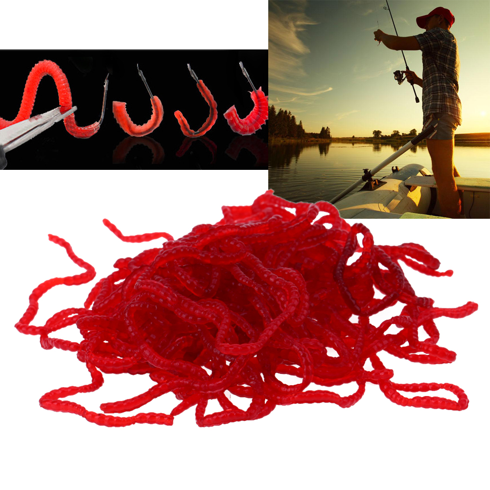 1 box fishing lure Smell red worm lures soft bait carp fishing lure iscas artificiais para pesca fishing tackle
