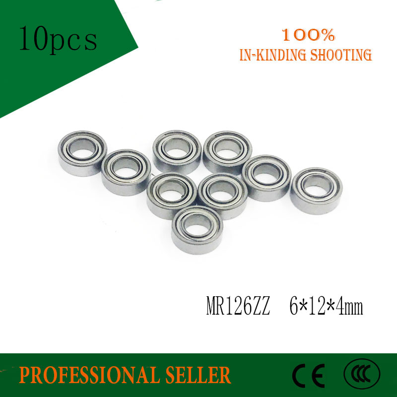 MR126ZZ Rulman ABEC-1 (10 PCS) 6*12*4mm Minyatür MR126 ZZ Top Rulmanlar L-1260ZZ MR126z